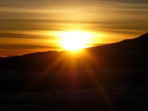 キリマンジャロの裾野から夜明け