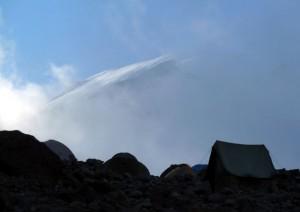 頂上の氷河